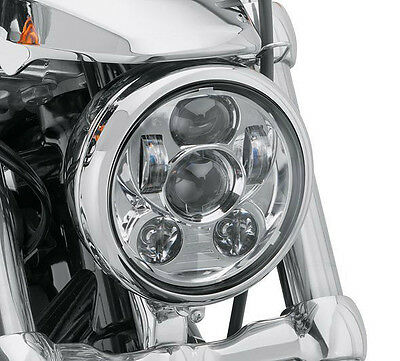 """5-3/4"""" LED Chrome Headlight Daymaker Projector For Harley Sportster XL 883 1200"""