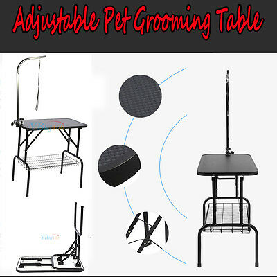 """32"""" Pet Dog Cat Portable Folding Grooming Cleaning Trimming Washing Table & Tray"""