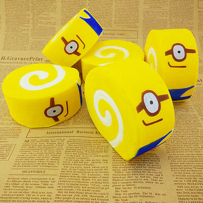 10cm Cute Jumbo Minions Soft Squishy Cartoon Roll Cakes Cellphone Strap Kid Toy