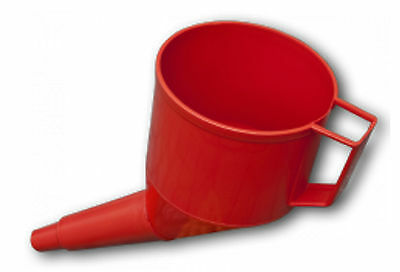 Red Self Supporting Fuel Funnel With Filter&handle