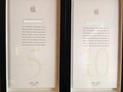 Apple Employee Five Year and Ten Year Award Plaques