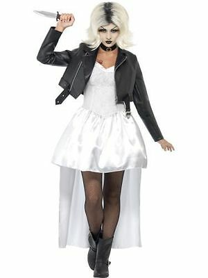Adult Bride of Chucky Costume Ladies Womens 80s Halloweencostume Fancy Dress Out