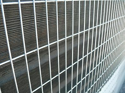 """Welded Wire Mesh Panels 6ftx3ft Galvanised Sheet Mesh 3x1"""" holes Cage - 2 Pack"""