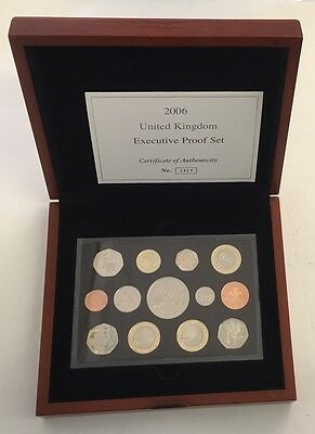 2006 Executive Proof Coin year Set Sealed Wooden Box COA
