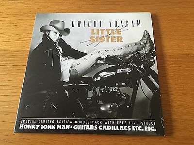 """Dwight Yoakam - Little Sister - 1987 Double 7"""" P/s Mint - Buy More Save Postage"""
