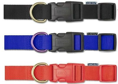 ancol  Heritage Nylon  Adjustable dog Collar red/blue/black 3 sizes