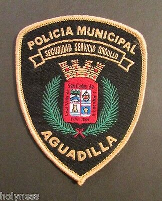 Vintage Puerto Rico Police Patch / Policia Municipal Aguadilla / Never Used
