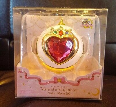 Sailor Moon Miniaturely Tablet 2 Chibimoon Prism Heart Compact Keychain Charm