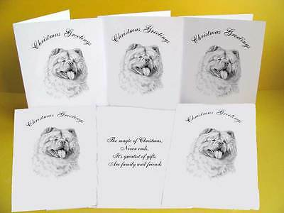 Chow Chow pack of 6 Dog Christmas Cards with a choice of 3 verse