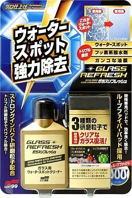 SOFT99 Window Care Glass refresh Water Spots Powerful Removal Soft 99 JAPAN