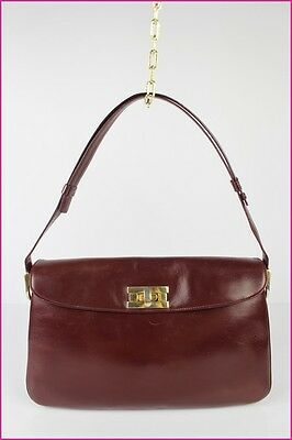 VINTAGE Bag SCHILZ Leather Bordeaux Worn Shoulder VERY GOOD CONDITION