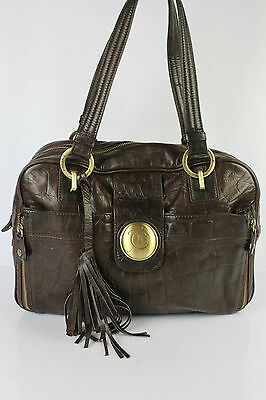 Bag JACQUES ESTEREL Brown Leather way Crocodile VERY GOOD CONDITION