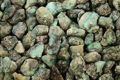 Rough Emerald 2 Oz 8 Piece Rock Mineral Specimen Natural Chakra Healing Gemstone