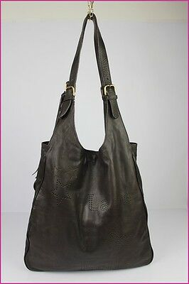 Messenger Bag MAKE EVERYDAY HAPPY Leather Brown TOP CONDITION