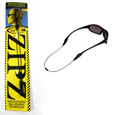 "CABLZ Sunglasses Glasses Holder ZIPZ Black 12"" Adjustable Eyewear Retainer Sport"
