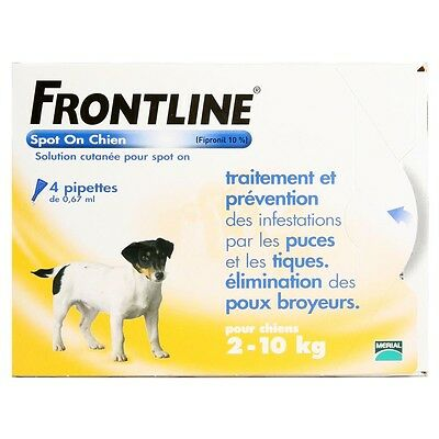 Frontline Spot-On S Chien (2-10 kg) - 4 pipettes