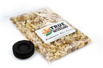 80g Frankincense Resin Incense and FREE CHARCOAL DISK Pure Aromatic Resin