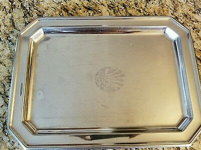 Continental Airlines Silver Serving Tray (Large)