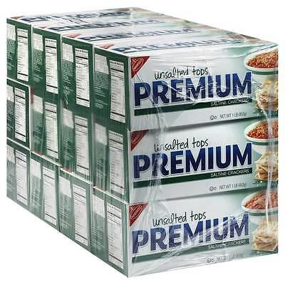 Nabisco Unsalted Premium Saltine Crackers 16 oz (Pack of 12)