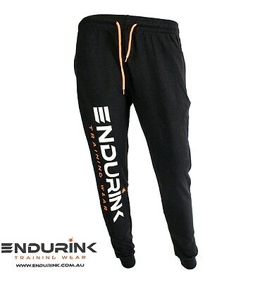 Mens tapered slim cuff gym bodybuilding track pants trackies sweatpants joggers