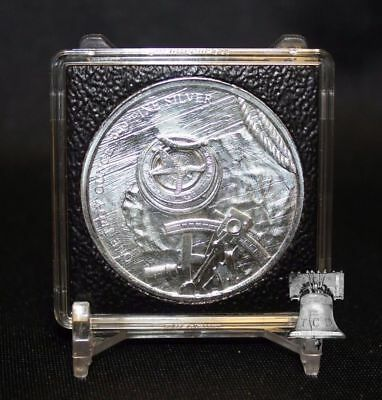 39mm 1oz Silver 2x2 Coin Holder Display QUADRUM INTERCEPT Capsule Snap + Stand
