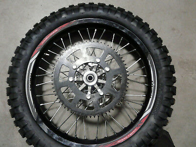 Rieju MRT 50 Freejump Rear wheel rim with Tyres and Brake disc+ Sprocket