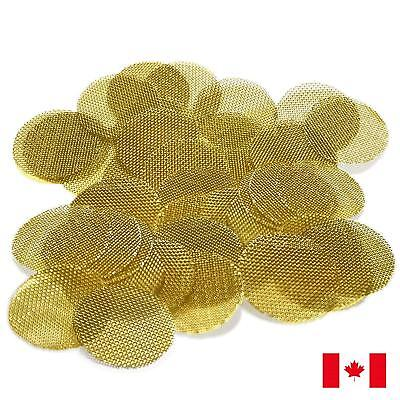 "60 Piece Gold Brass 3/4"" 0.75"" Tobacco Smoking Pipe Screens"