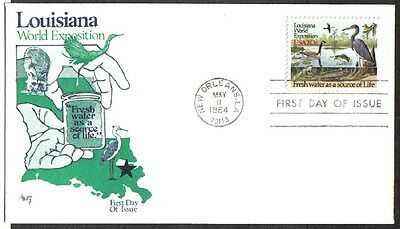 Us Fdc 1984 Louisiana World Exposition 20C #2086 Marg Cachet First Day Cover