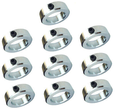 "3/4"" Bore Solid Steel Zinc Plated Shaft Collars Set Screw Style (10 PCS)"