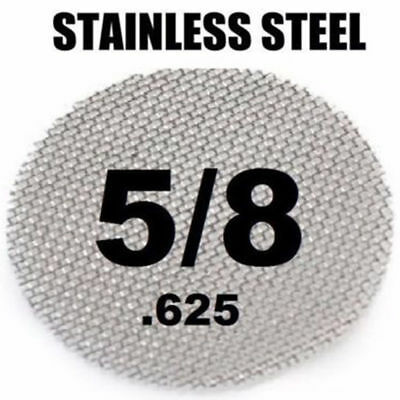 """30 Piece Sliver 3/4"""" Stainless Steel Tobacco Smoking Pipe Screens"""
