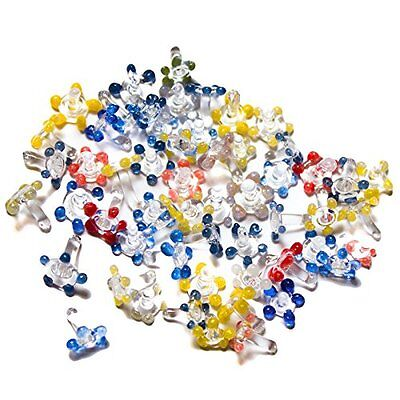 40 Piece Multicolor Assorted Flower Glass Daisy Style Pipe Screens