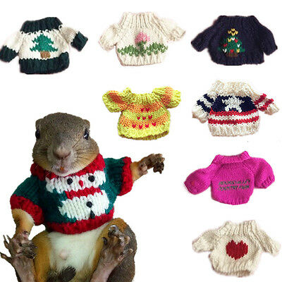Small Animals Squirrel Sugar Glider Rat Mice Sweater Suit Dress Christmas Gift