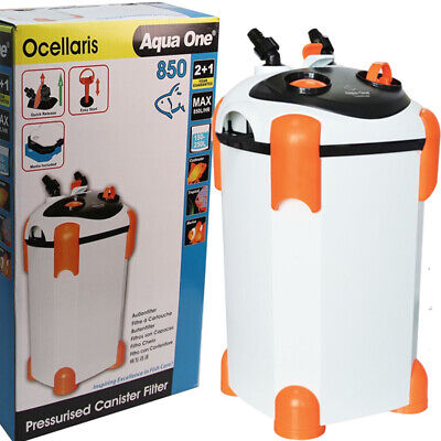 Aqua One Ocellaris External Aquarium Fish Canister Filter 850 2 + 1 WARRANTY