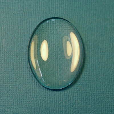 10pcs x OVAL 18x13mm Clear Glass Dome Cabochon tile cameo pendant DIY
