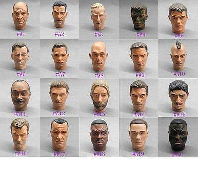 """1/6 Scale Head Sculpt Male head Fits 12"""" 1:6 Action Figure Toy Soldiers Body"""