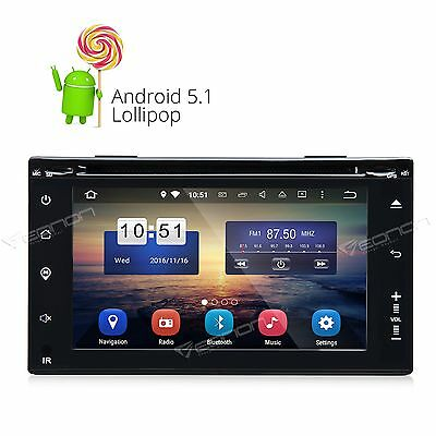 Double DIN Android 5.1 Car Headunit DVD Player GPS DAB+ WiFi OBD2 DVR BT RDS S