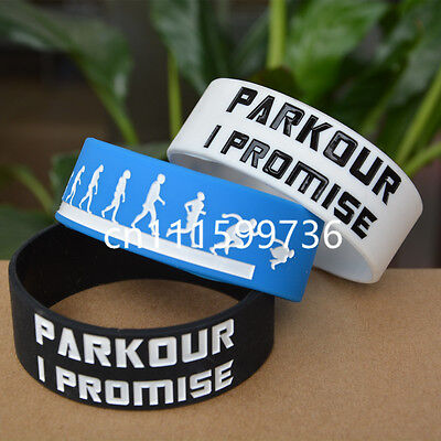 Parkour I Promised Silicone Wristband Bracelets for Sport Adult