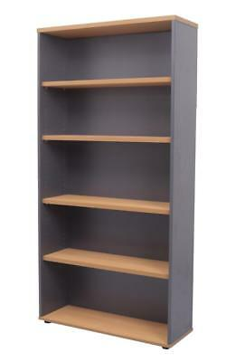 Rapid Line 4 Adjustable Shelves Bookcase 1800H X 900W X 315Dmm Beech/Ironstone