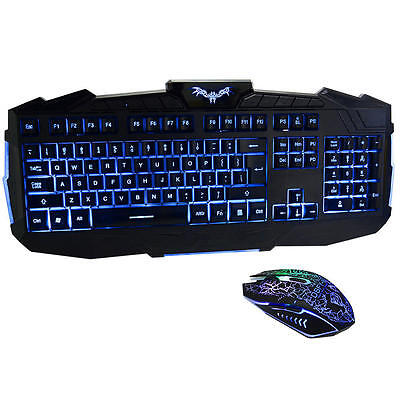 DSFY Ergonomic Three Adjustable Color with Luminous Gaming Keyboard and Mouse
