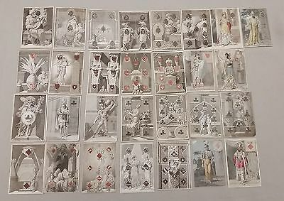 Early 1800s Original Antique Transformation Playing Cards 29 Total Beatrice