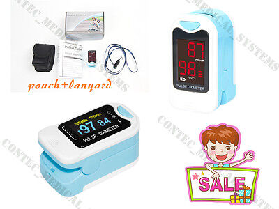 NEW Finger Fingertip Pulse Oximeter SPO2 PR Blood Ooxygen monitor Pouch&Lanyard