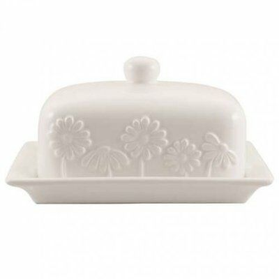 Lovely Daisy Flowers Butter Dish Kitchen Food Serving