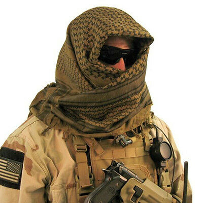 Warm Army Military Tactical Arab Shemagh KeffIyeh Shawl Wrap Scarf 110cm*110cm