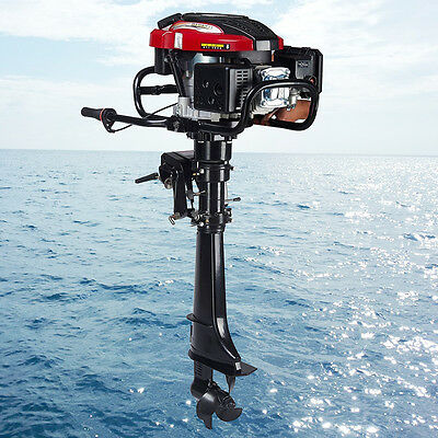 173cc 4-Stroke 7HP Outboard Motor Engine Tiller Fishing Boat Air Cooling System