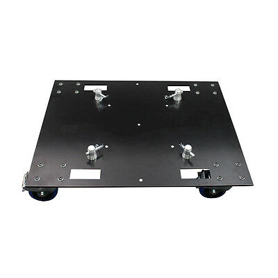 Global Truss - F44BASE - D Base Plate - on castors [] Truss Baseplates