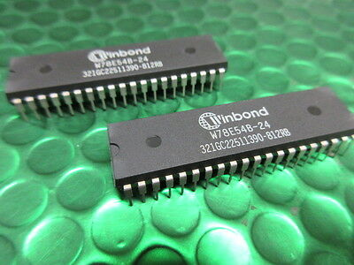 8-Bit Flash Microcontroller,Mcu, W78E54B24/40, Winbond, Uk Stock. New.