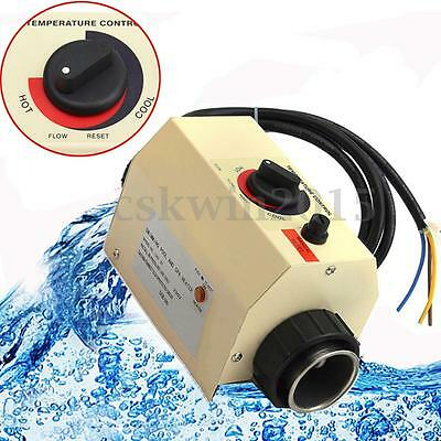 220V Pool Wärmepumpe SPA Poolheizer Schwimmbadheizung Thermostat Poolheizung 2KW