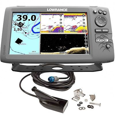 Lowrance Eco/GPS Hook-9 con trasduttore Downscan HDI 83/200kHz #62120186