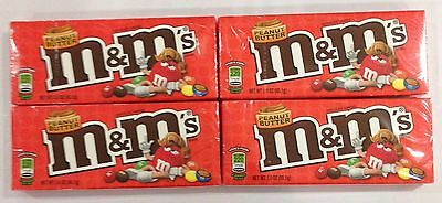 909332 4 x 85.1g BOXES OF PEANUT BUTTER M&M's - CHOCOLATE CANDIES - USA