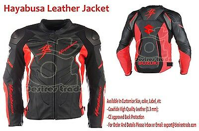 Suzuki Hayabusa Motorbike Leather Jacket/Racing Real Leather Jacket / Men, Women